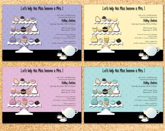 Sweet Bridal Shower Tea Invitation - Customizable - Printable