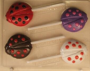 Ladybug Lollipop Candy Mold AO255