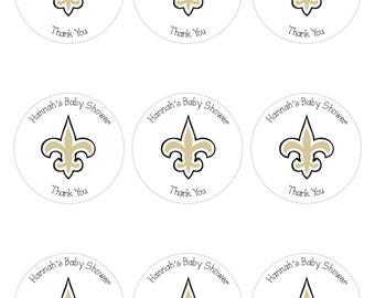 Custom Personalized Fleur De Lis New Orleans Saints Stickers - Digital Download
