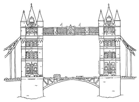 Items Similar To Colouring Page Of Tower Bridge London On