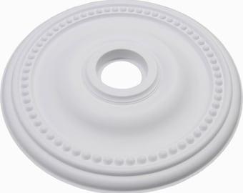 "24"" White Henta Plano II Ceiling Medallion Paintable ABS Modern Light Fixture"