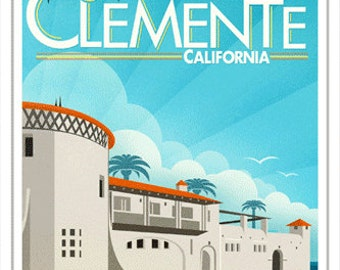 5x7 Greeting Card - San Clemente California