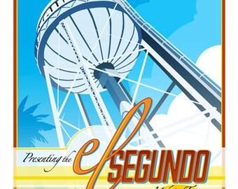 5x7 Greeting Card - El Segundo California Water Tower