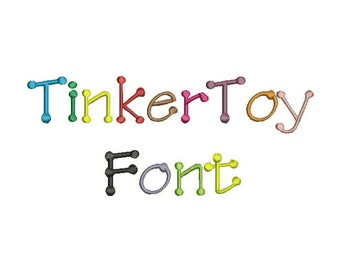 TingerToy Font A-Z and 0 -9 Embroidery Design