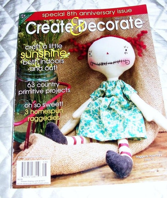 Create decorate country primitive crafts by for Create and decorate magazine free