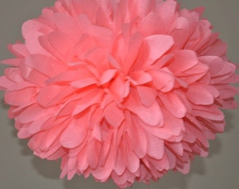 Coral Tissue Paper Poms, Birthday Party Decorations, Coral Wedding Decorations, Baby Shower, Romantic Vintage Decorations, Coral Paper Decor