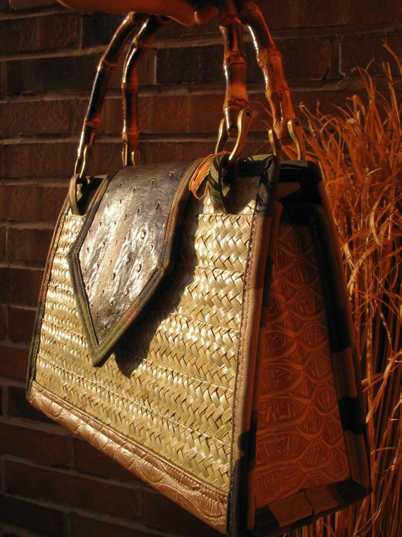 Palm Tree Purse Rustic Home Decor Straw Purse Straw Handbag