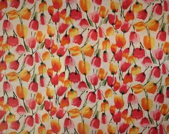 """100% CottonVoile Fabric,YellowOrange White Printed Cotton,Voile Fabric,Wedding Fabric,Bridesmaid Light Weight FabricSheerFabric,57""""W by Yard"""