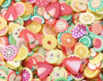 150 Mixed Fruit Slices - Over 35 Different Designs