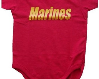 Baby One-Piece-Personalized Gifts-Military - MARINES - MARINE BABY - Military Gear - Red One-Piece  / Baby T-shirt