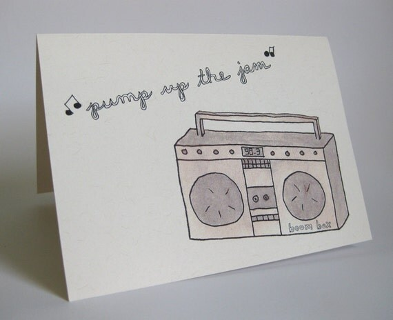 Pregnancy Congrats/New Baby Greeting Card - Handmade and printed from original ink and gouache illustration
