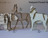 Flatpack Forest Fauna made from ECOR