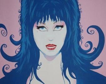SALE! Elvira mistress of the Dark painting