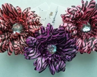 """Zebra Hair Flower Clip, Easter Hair Flower, 4"""" Hair Flower, Accessories, hair flower clip, Girls Hair Flower, Children, Toddler, Girls"""