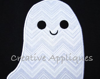 Halloween Simlpe Ghost Digital Machine Embroidery Applique Design 4 Sizes