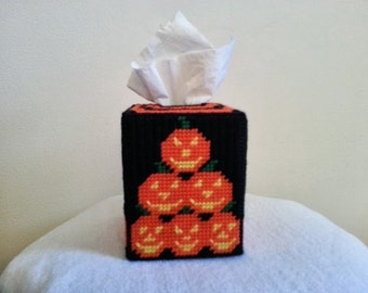 stackable pumpkin tissue box cover