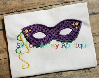 Mardi Gras Mask Machine Applique Design