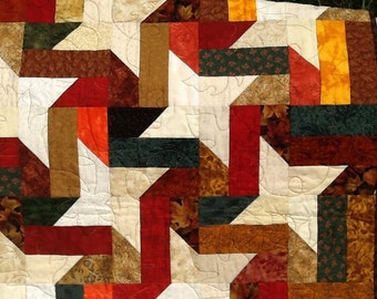 Fall Colored Lap Quilt