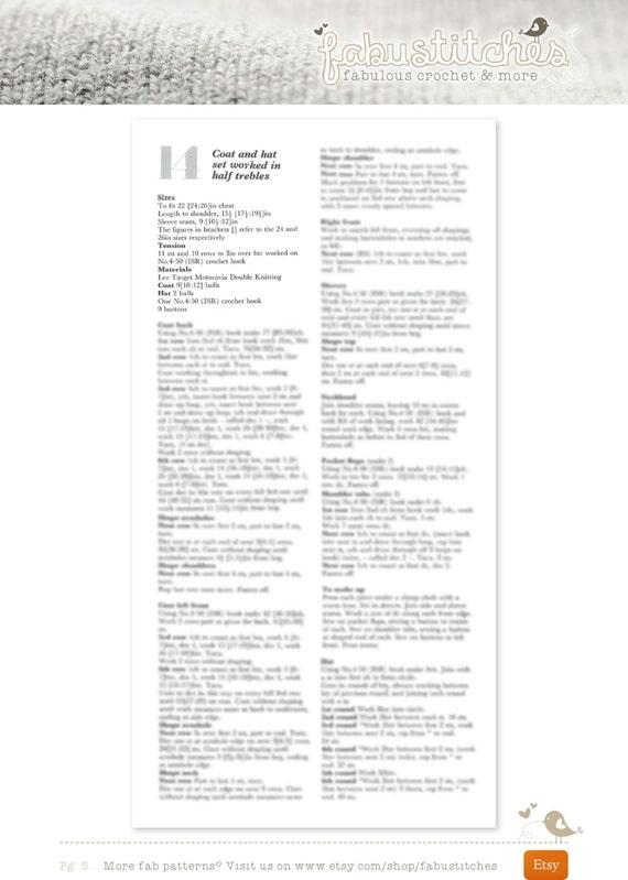 dust coat pattern child pdf