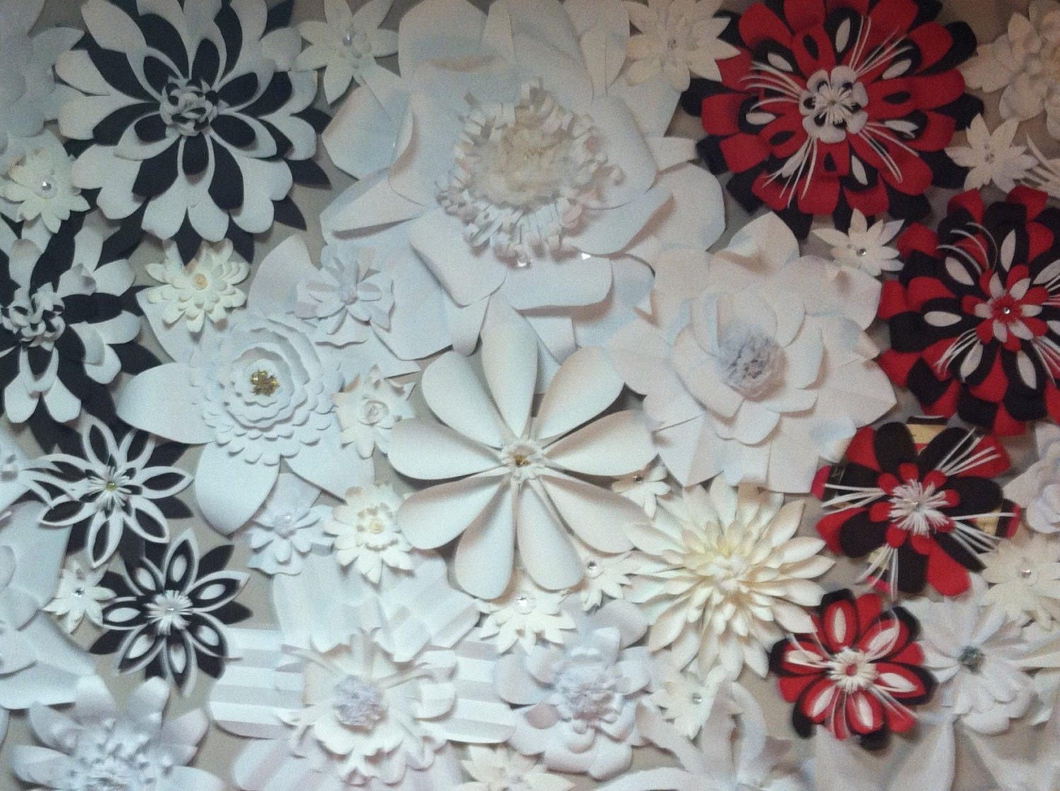 4ftx9ft Paper Flower Wall Backdrop For Wedding Or Special
