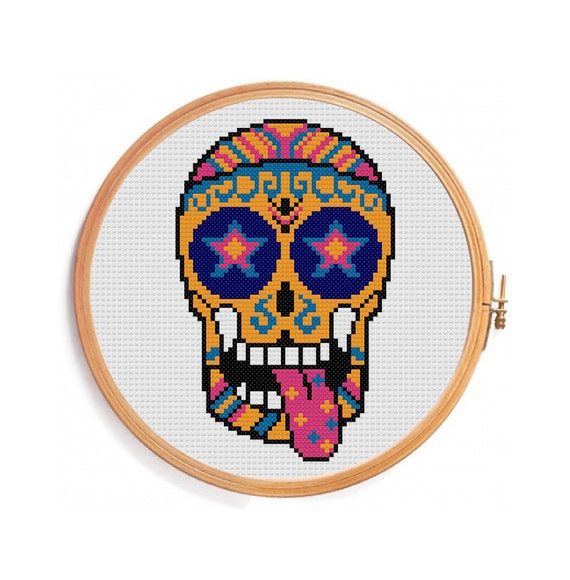 череп схема вышивки