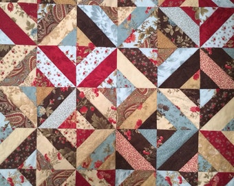 Custom quilt - made to order twin / single patchwork quilt 56 x 67 in any colours