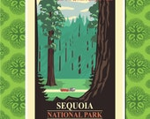 Sequoia National Park Travel Poster Wall Decor (7 print sizes available)