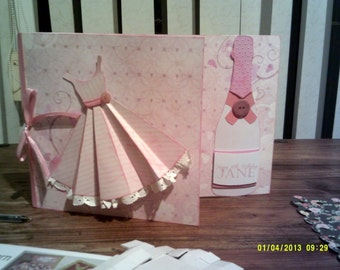 Dress and Champagne Birthday card
