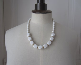 Vintage faceted beads necklace