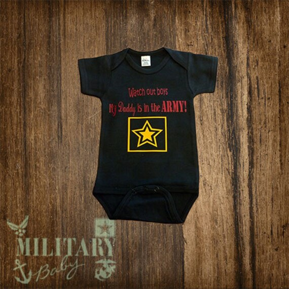 Items similar to Army Baby Clothes on Etsy