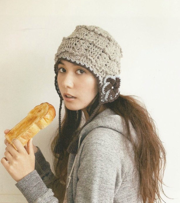 Japanese Crochet Winter Hat For Women Pattern by DotsStripes