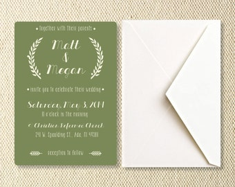 Printable Grecian Wedding Invitations