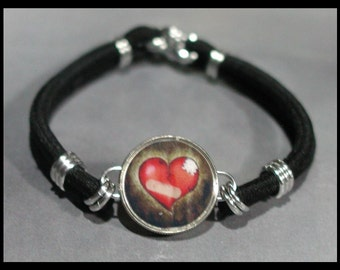 BROKEN HEART Dime Stretch Bracelet - One size fits most - Made In USA