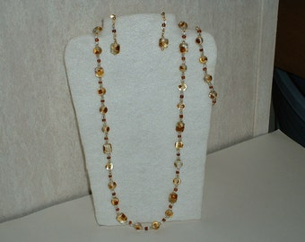 Hand Crafted 3 piece Earring, Necklace and Bracelet set