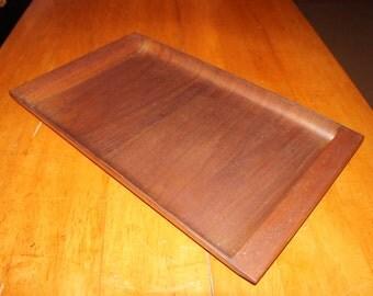 Mid Century Danish Modern Walnut Serving Tray / cutting board - Simple and Elegant
