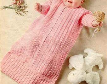 Knitting Pattern For Baby Grow Bag : Instant Download Knitting Pattern - BUNTING BAG - Baby Sleeping Bag - DK Yarn...