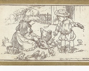 Beautiful Childrens Postcard By Florence Nosworthy