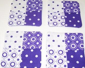 Coasters Purple set of 4