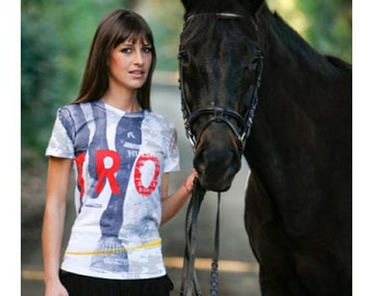Equestrian Trot White Short Sleeve Horse T Shirt