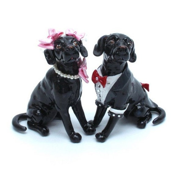 Black Labrador Retreiver Wedding Cake Topper Bride by ...