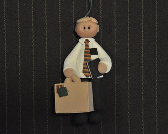 This LDS missionary is ready to serve. He is approximately 3 1/4 inches tall, made from polymer clay. Each ornament is sculpted by hand.