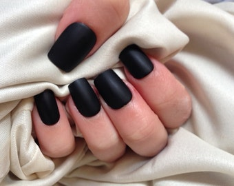 Lilly Rose | False Nails | Matte (Black&White)