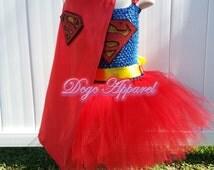 Super girl inspired Tutu (Kids 2t, 3t, 4t)