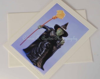Photography greeting card-Halloween greeting card-Witch greeting card-Halloween card-Witch card-Black and purple card-Witch-Halloween
