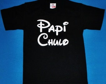 Cool Tee for Boys with Spanish Text PAPI CHULO
