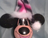 Minnie Mouse Inspired Hand Painted Whimsical Minnie Mouse Light Bulb Ornament