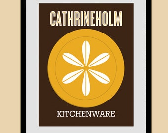 CATHRINEHOLM kitchen art, kitchenware print, poster, kitchen wall art, modern art, mid century modern, Giclee print, 21