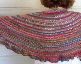 Hand-knit Shawl with Subtle Sparkle