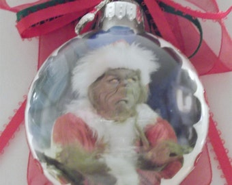 Grinch  inspired Tribute Christmas Ornament