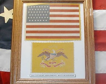 Spanish American War, Theodore Roosevelt, 1st Cavalry, Rough Riders Flag set